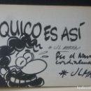 Cómics: DIBUJO ORIGINAL DEDICADO DE J.L. MARTIN EN COMIC QUICO ES ASI.. Lote 165185230