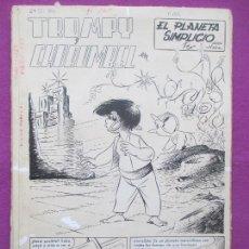 Cómics: DIBUJO ORIGINAL PLUMILLA, TROMPY Y CHURUMBEL, EL PLANETA SIMPLICIO, ROBERT NIN, 1959, 29 HOJAS. Lote 165345386