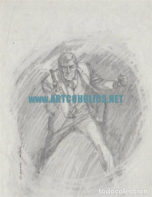 DIBUJO ORIGINAL DE RAFAEL LÓPEZ-ESPÍ FIRMADO : BOCETO PORTADA BARDON (Tebeos y Comics - Art Comic)