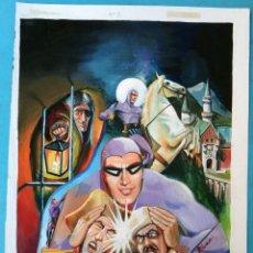 Cómics: DIBUJO ORIGINAL COLOR , PORTADA EL HOMBRE ENMASCARADO Nº 5 , BLUME , M5. Lote 165529146