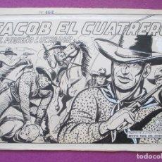 Cómics: DIBUJO ORIGINAL PLUMILLA, EL PEQUEÑO LUCHADOR, JACOB EL CUATRERO, Nº162, PORTADA + 10 HOJAS. Lote 166142354