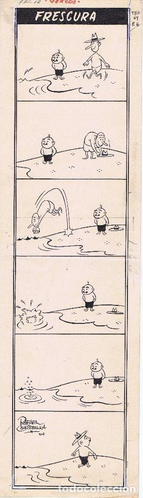 ¡¡¡REBAJADO!!! ORIGINAL DE RAFAEL CORTIELLA PUBLICADO EN TBO Nº 69 DE 1949 (Tebeos y Comics - Art Comic)