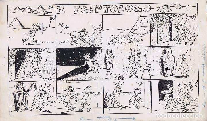 ¡¡¡REBAJADO!!! ORIGINAL AYNE TITULADO EL EGIPTÓLOGO (Tebeos y Comics - Art Comic)