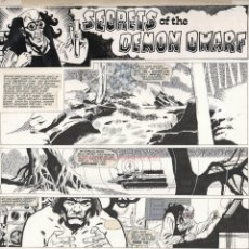 Cómics: PÁGINA ORIGINAL DE ALFONSO FONT : LION COMICS- THUNDER PG 18. Lote 166746706