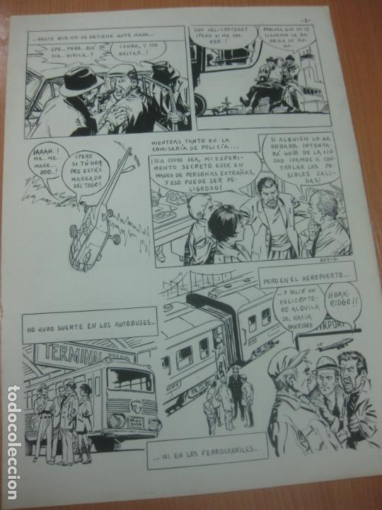 Cómics: DIBUJOS ORIGINALES DE CUETO. HISTORIA COMPLETA DE 8 PAGINAS GRAN FORMATO. PROFESOR OLSEN. 1973. - Foto 3 - 167120836