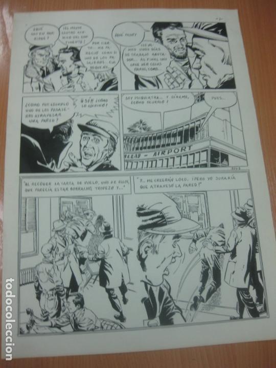 Cómics: DIBUJOS ORIGINALES DE CUETO. HISTORIA COMPLETA DE 8 PAGINAS GRAN FORMATO. PROFESOR OLSEN. 1973. - Foto 4 - 167120836