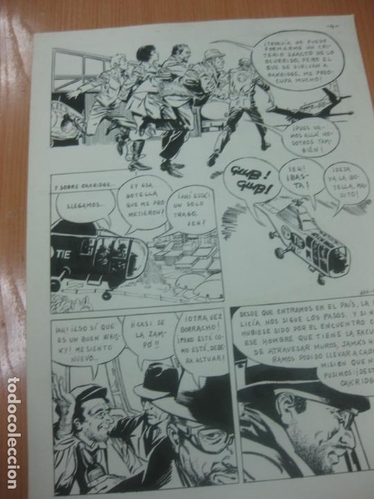 Cómics: DIBUJOS ORIGINALES DE CUETO. HISTORIA COMPLETA DE 8 PAGINAS GRAN FORMATO. PROFESOR OLSEN. 1973. - Foto 5 - 167120836