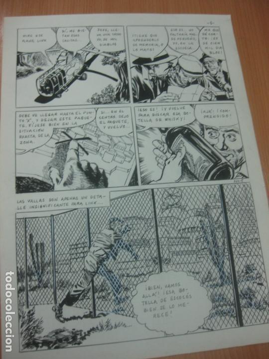 Cómics: DIBUJOS ORIGINALES DE CUETO. HISTORIA COMPLETA DE 8 PAGINAS GRAN FORMATO. PROFESOR OLSEN. 1973. - Foto 6 - 167120836
