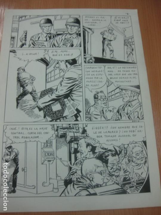 Cómics: DIBUJOS ORIGINALES DE CUETO. HISTORIA COMPLETA DE 8 PAGINAS GRAN FORMATO. PROFESOR OLSEN. 1973. - Foto 7 - 167120836