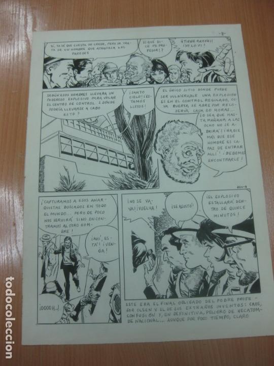 Cómics: DIBUJOS ORIGINALES DE CUETO. HISTORIA COMPLETA DE 8 PAGINAS GRAN FORMATO. PROFESOR OLSEN. 1973. - Foto 9 - 167120836