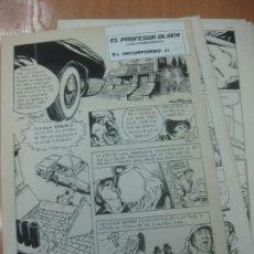 Cómics: DIBUJOS ORIGINALES DE CUETO. HISTORIA COMPLETA DE 8 PAGINAS GRAN FORMATO. PROFESOR OLSEN. 1973.. Lote 167120836