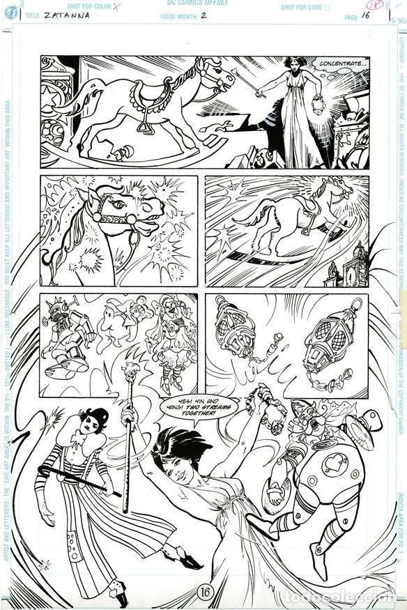 (BD) DIBUJO ORIGINAL DE ESTEBAN MAROTO - ZATANNA, N.2 P.2, EDITORIAL DC COMICS (Tebeos y Comics - Art Comic)