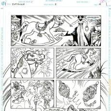 Cómics: (BD) DIBUJO ORIGINAL DE ESTEBAN MAROTO - ZATANNA, N.2 P.2, EDITORIAL DC COMICS. Lote 167914336