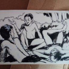 Cómics: ISIDRE MONES PONS (BARCELONA 1947) DIBUJO ORIGINAL A TINTA PARA PATUFET. Lote 168008222