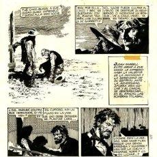 Cómics: (BD) DIBUJO ORIGINAL DE ARTURO DEL CASTILLO - GARRETT - BALADA PARA UN JUSTO P.8, EDICIONES RECORD. Lote 168434244