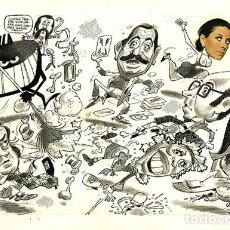 Cómics: (BD) DIBUJO ORIGINAL DE PEDRO GARCÍA LORENTE - PRESENTADORES DE LA TELEVISIÓN, EL PAPUS 83 P.28 - 29. Lote 168435828