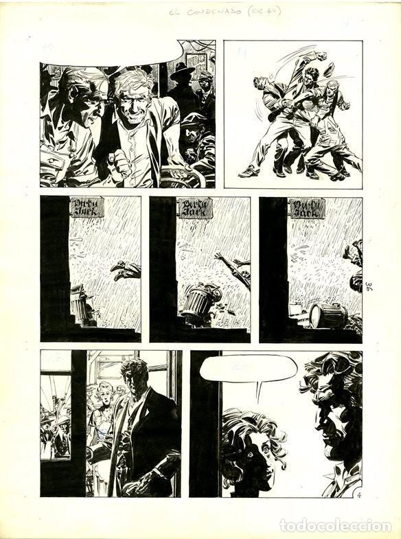(BD) DIBUJO ORIGINAL DE DOMINGO MANDRAFINA - EL CONDENADO - EL SUEÑO DE FINNEGAN P.4, EDT. RECORD (Tebeos y Comics - Art Comic)