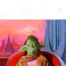Cómics: (BD) DIBUJO ORIGINAL DE JOSÉ MARÍA MIRALLES - STAR WARS YADDLE, JEDI COUNCIL P.18. Lote 168682328