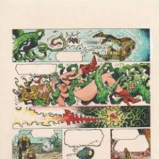 Cómics: COLOR ORIGINAL DE ALFONSO AZPIRI: LORNA VOLUMEN 1 CAPÍTULO 13 PÁGINA 2 FIRMADO. Lote 168749408