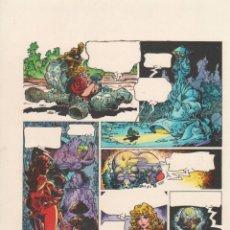 Cómics: COLOR ORIGINAL DE ALFONSO AZPIRI: LORNA VOLUMEN 1 CAPÍTULO 13 PÁGINA 3 FIRMADO. Lote 168749508