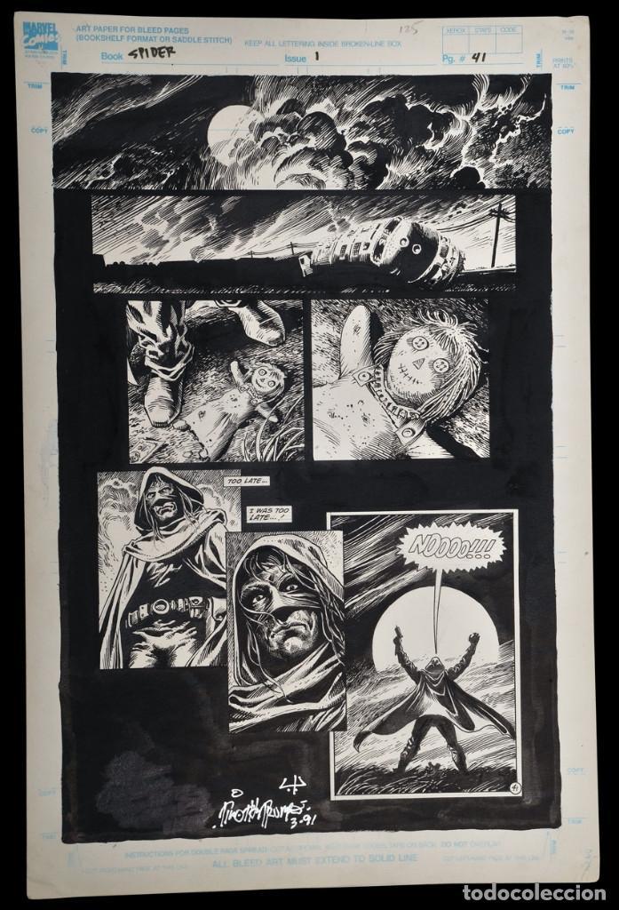 PAGINA ORIGINAL TIM TRUMAN & ENRIQUE ALCATENA (Tebeos y Comics - Art Comic)