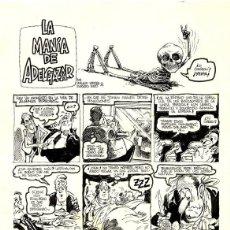 Cómics: (BD) DIBUJO ORIGINAL DE VENTURA & NIETO - LA MANÍA DE ADELGAZAR 2 P. COMPLETO, EL PAPUS 1980. Lote 169632156