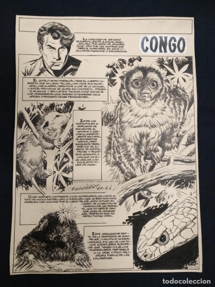 SELECCIONES ILUSTRADAS - DIBUJO ORIGINAL - FIRMADO GUINOVART - 1960 - (Tebeos y Comics - Art Comic)
