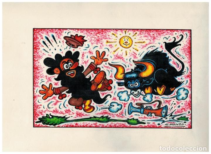 DIBUJO ORIGINAL FIRMADO - JUAN GARCIA IRANZO - ANTONIO BARBAS - (Tebeos y Comics - Art Comic)