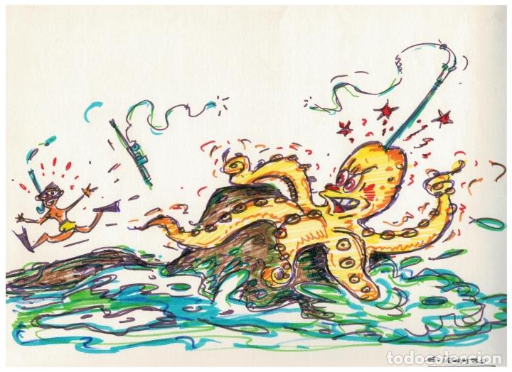DIBUJO ORIGINAL FIRMADO - JUAN GARCIA IRANZO - 32 CM. X 23 CM. (Tebeos y Comics - Art Comic)