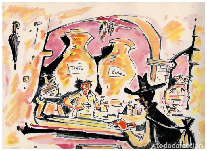 DIBUJO ORIGINAL FIRMADO - JUAN GARCIA IRANZO - 33,5 CM. X 24,5 CM. (Tebeos y Comics - Art Comic)