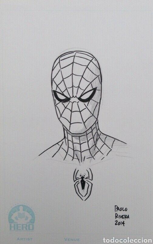 SPIDER-MAN DIBUJO ORIGINAL PAOLO RIVERA MARVEL (Tebeos y Comics - Art Comic)