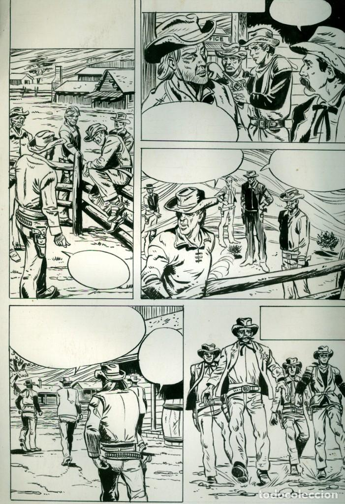 DIBUJO - TINTA - WESTERN (Tebeos y Comics - Art Comic)