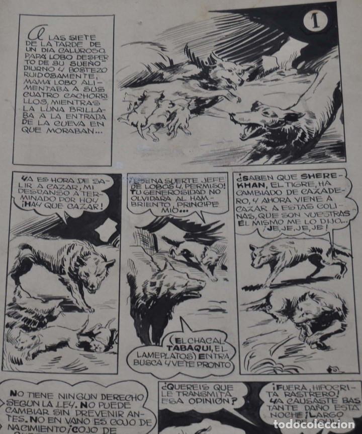 STRIPS COMIC ORIGINAL MOWGLI EL LIBRO DE LA SELVA. 31 PAGINAS EN CARTÓN DURO. 50 X 22 CM (Tebeos y Comics - Art Comic)