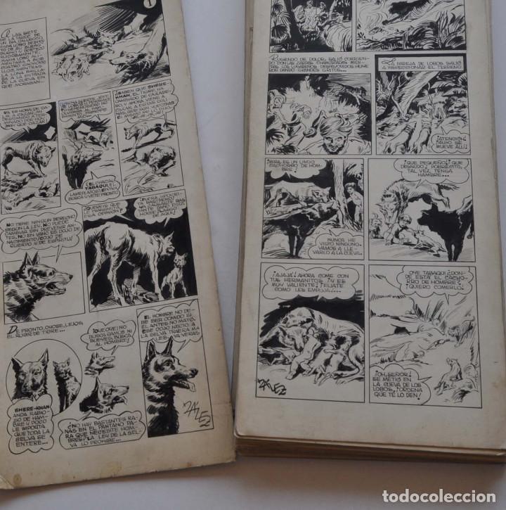 Cómics: STRIPS COMIC ORIGINAL MOWGLI EL LIBRO DE LA SELVA. 31 PAGINAS EN CARTÓN DURO. 50 X 22 CM - Foto 4 - 171674630