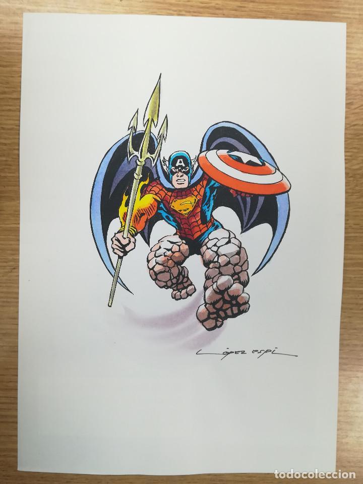 DIBUJO ORIGINAL - PERSONAJE AMALGANA - LÓPEZ ESPÍ / TINTA - ACUARELA COLOR (Tebeos y Comics - Art Comic)