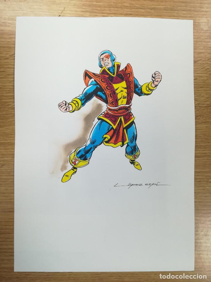 DIBUJO ORIGINAL - SOTA DE CORAZONES - LÓPEZ ESPÍ / TINTA - ACUARELA COLOR (Tebeos y Comics - Art Comic)