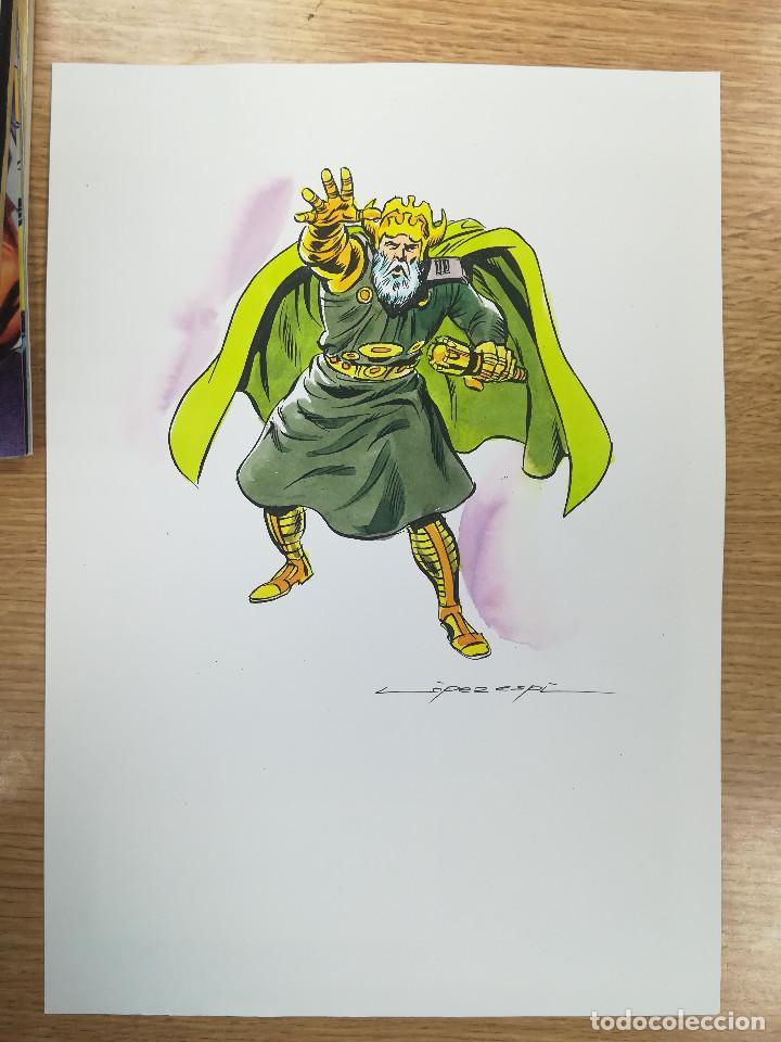 DIBUJO ORIGINAL - ODIN - LÓPEZ ESPÍ / TINTA - ACUARELA COLOR (Tebeos y Comics - Art Comic)