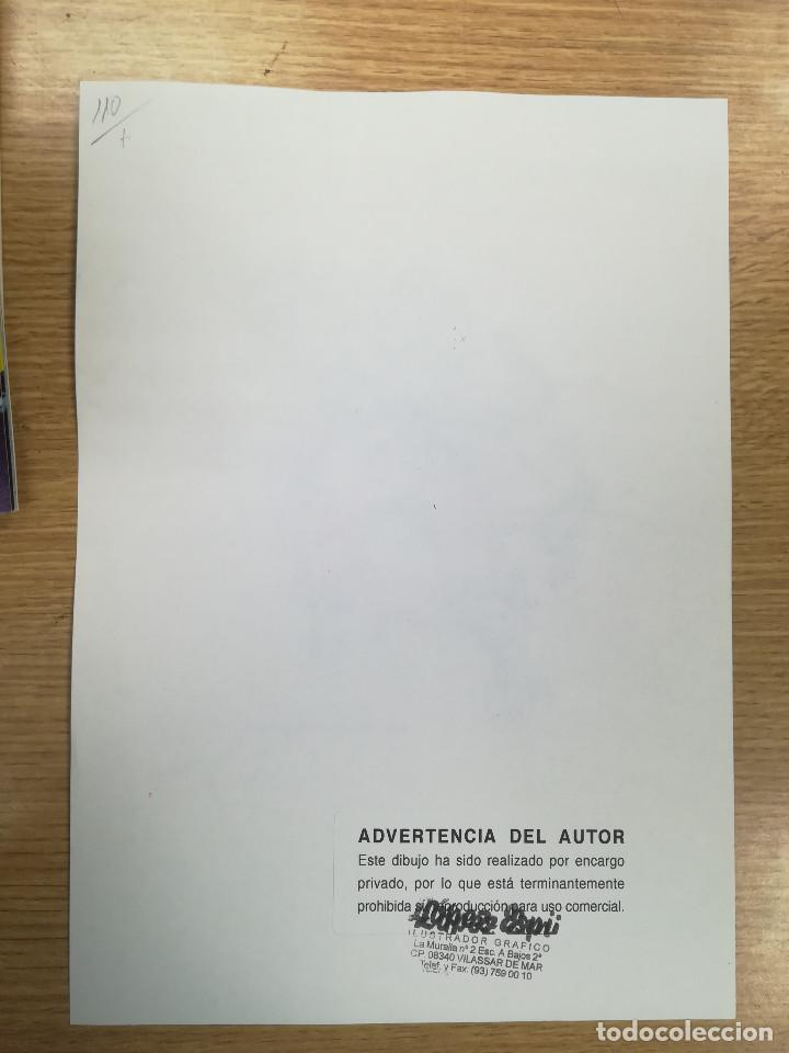 Cómics: DIBUJO ORIGINAL - HOMBRE LOBO - LÓPEZ ESPÍ / TINTA - ACUARELA COLOR - Foto 2 - 172115000