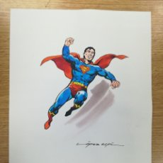 Cómics: DIBUJO ORIGINAL - SUPERMAN - LÓPEZ ESPÍ / TINTA - ACUARELA COLOR. Lote 172115168