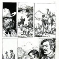 Cómics: (BD) DIBUJO ORIGINAL DE CARLOS ROUME - LA LEYENDA DE MARGARET LYNN P.8, EDITORIAL RECORD. Lote 172275438