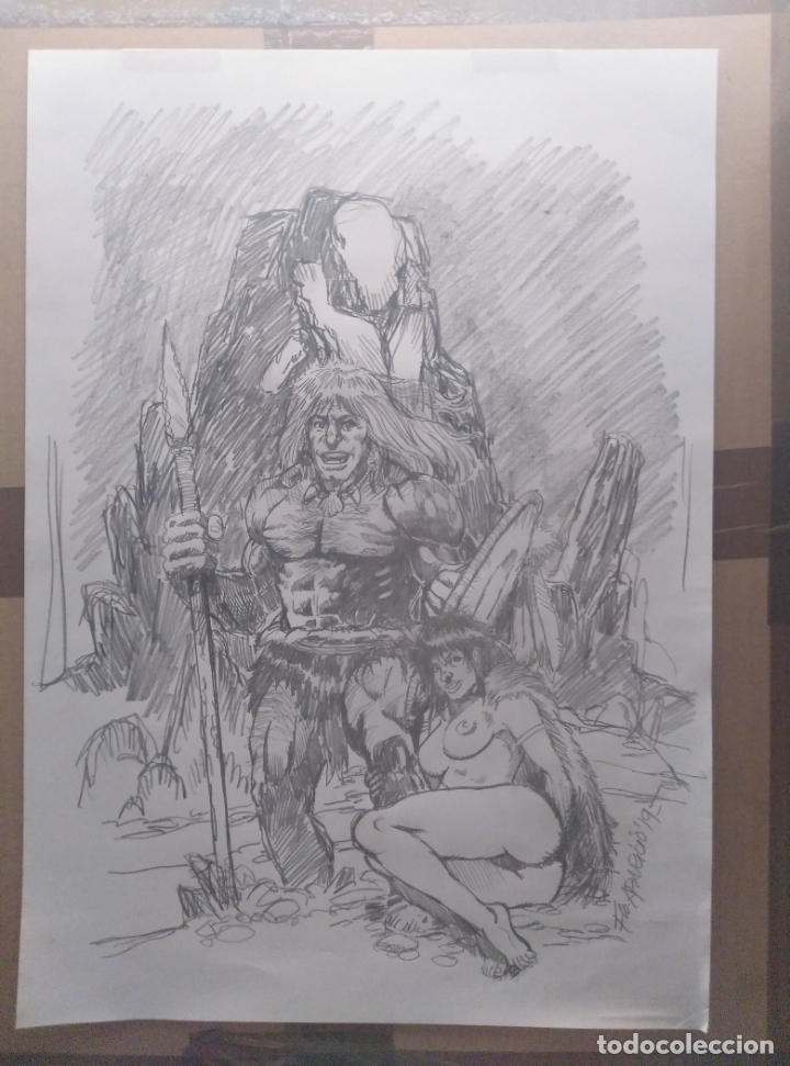 OFERTA!- EL MAL ACECHA (PREVIO) - DIBUJO ORIGINAL, FIRMADO. 42X30 CM. (A3). (Tebeos y Comics - Art Comic)