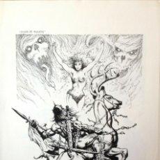 Cómics: JAIME BROCAL REMOHI GRANT ARTISTA FANTASY: DIOSA DE MUERTE ORIGINAL, ILUSTRACION A TINTA. Lote 174081953
