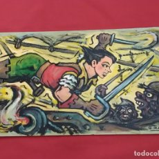 Cómics: JUAN GARCIA IRANZO -EL CACHORRO - PINTURA ACRILICA / PLASTICA SOBRE TABLEX - . Lote 175218302