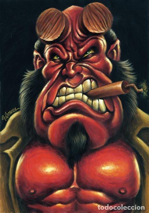HELLBOY - CARICATURA ORIGINAL - JOAN VIZCARRA (Tebeos y Comics - Art Comic)