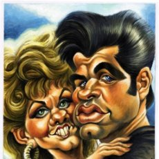 Cómics: GREASE - CARICATURA ORIGINAL - JOAN VIZCARRA. Lote 175583942
