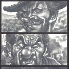 Cómics: EL BUENO, EL MALO Y EL FEO - CARICATURA ORIGINAL - JOAN VIZCARRA. Lote 175588100