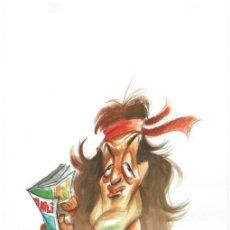 Cómics: RAMBO - CARICATURA ORIGINAL - JOAN VIZCARRA. Lote 175589973