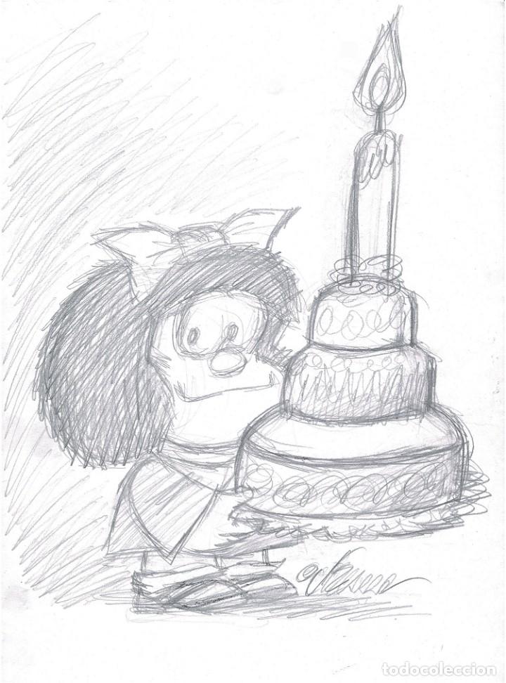 MAFALDA SKETCH - CARICATURA ORIGINAL - JOAN VIZCARRA (Tebeos y Comics - Art Comic)