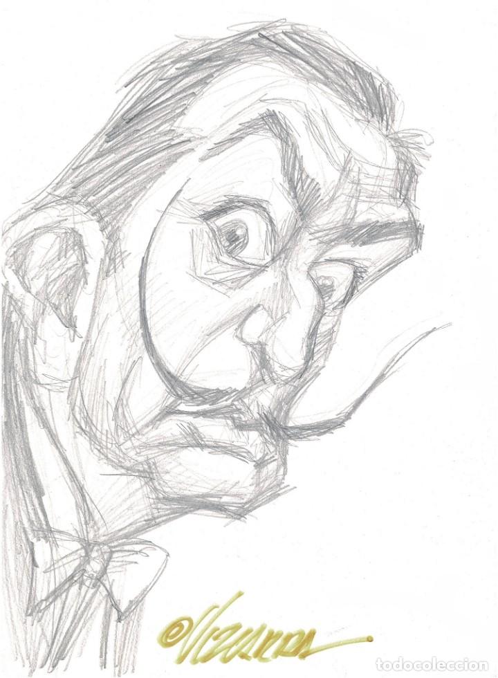 DALI - CARICATURA ORIGINAL - JOAN VIZCARRA (Tebeos y Comics - Art Comic)