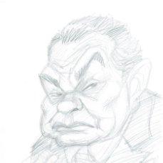 Cómics: EDWARD G.ROBINSON SKETCH - CARICATURA ORIGINAL - JOAN VIZCARRA. Lote 175663442